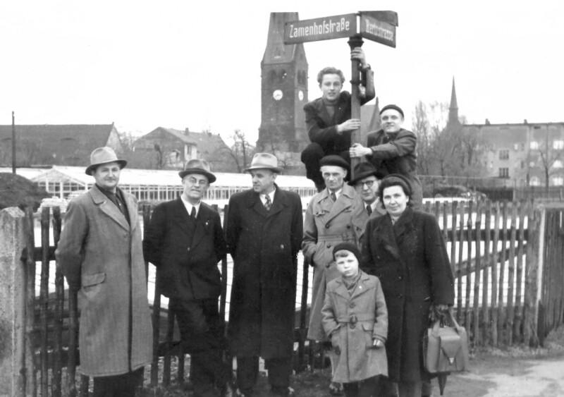 Esperantisten in der Zamenhofstraße, Dresden 1954