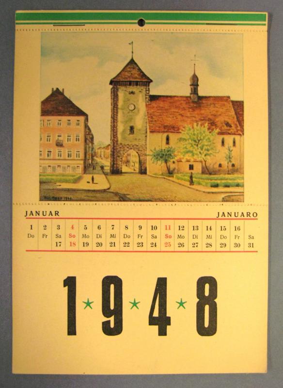 Kalender 1948: Edition Max Reichelt, Villingen