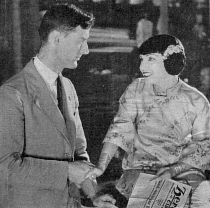 Joseph R. Scherer mit Filmstar Lupe Velez, Hollywood 1930
