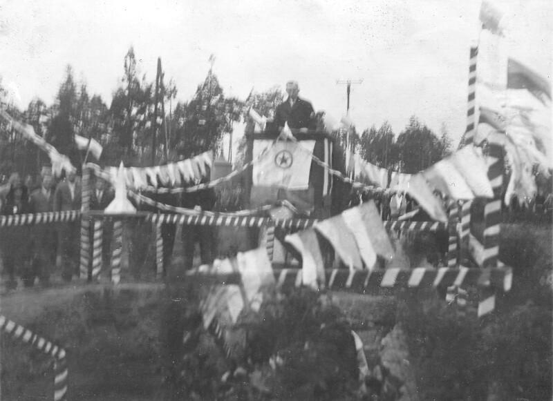 Grundsteinlegung für das Zamenhof-Denkmal, Białystok 1931