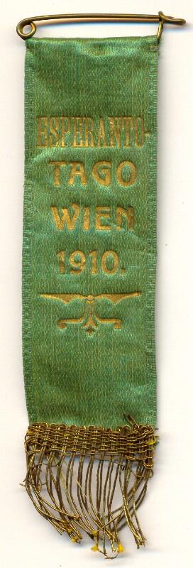 Abzeichen: Esperanto-Tago, Wien 1910