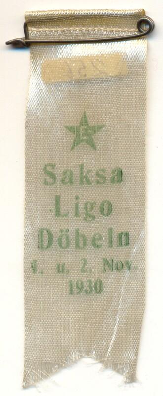 Abzeichen: Saksa Ligo, Döbeln 1930