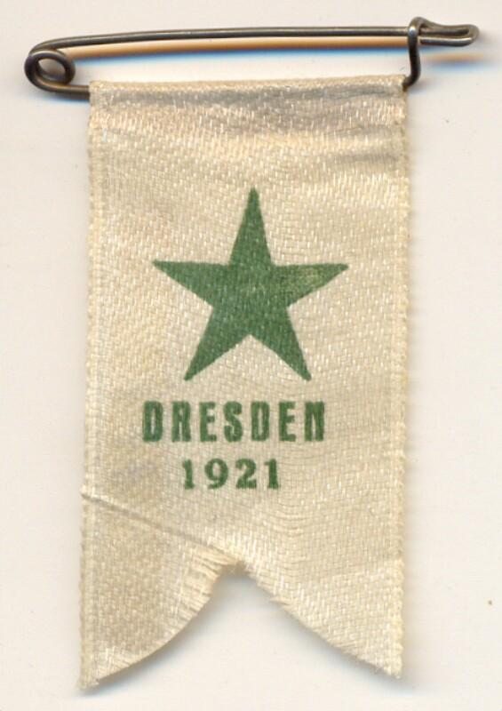 Abzeichen: Dresden 1921