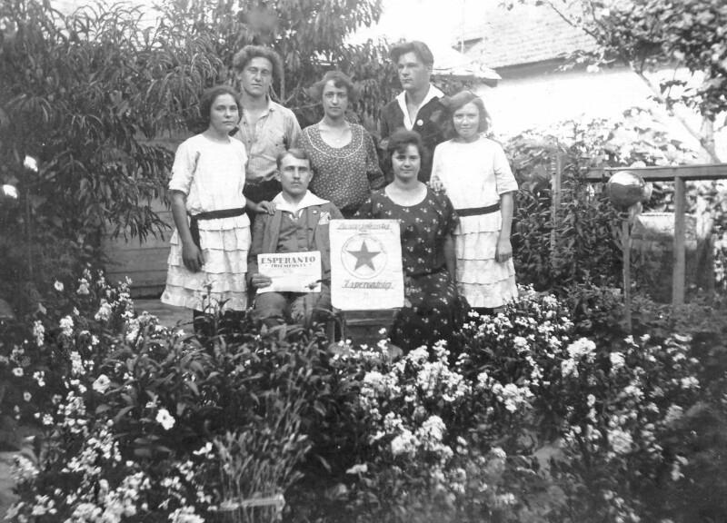 Esperanto-Weltreisende zu Besuch bei Familie Khirer, Nagykörös 1920