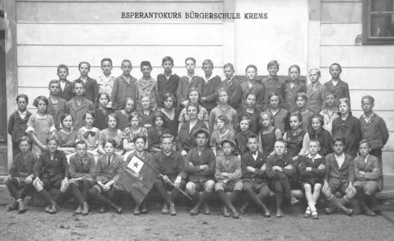 Esperanto-Unterricht in der Bürgerschule Krems, um 1930