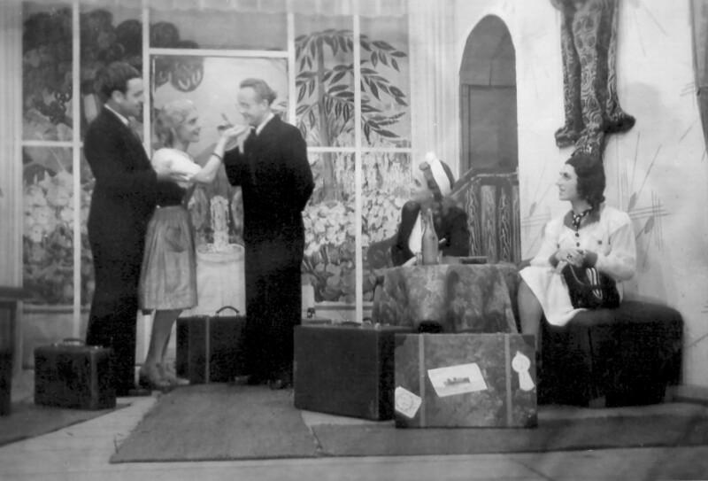 """Esperanto-Komödie """"Poŝto el Svedujo"""", Nantes 1947"""
