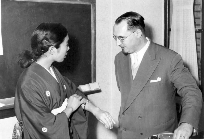 Yoshiko Kajino in Triest, 1957