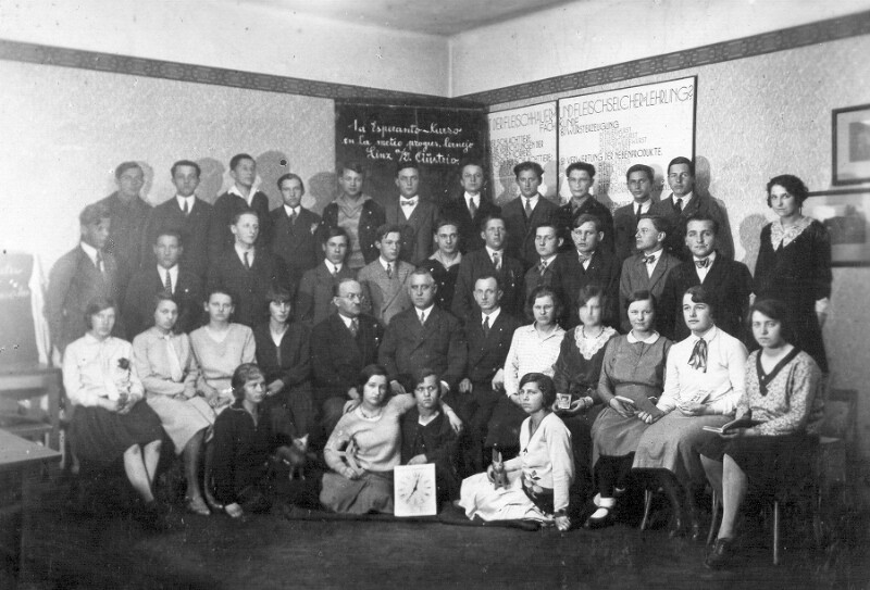 1. Esperanto-Kurs an der Berufsschule Linz, 1933