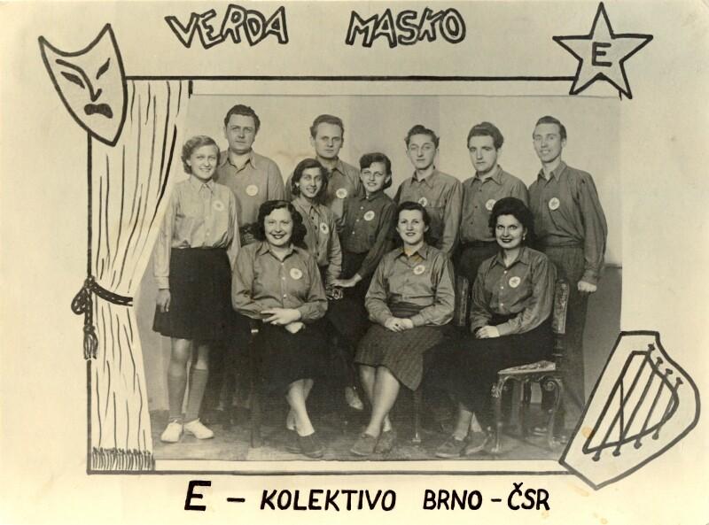 "Esperanto-Künstlergruppe ""Verda Masko"", Brno 1952"