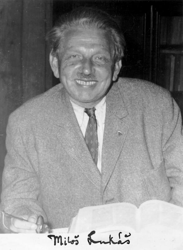 Miloš Lukáš, um 1955