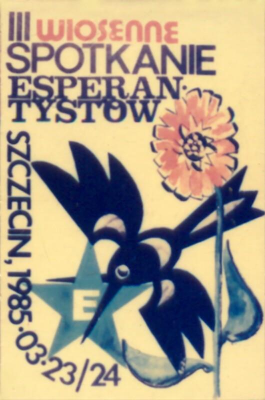 Abzeichen: III Wiosenne Spotkanie Esperantystow, Stettin 1985