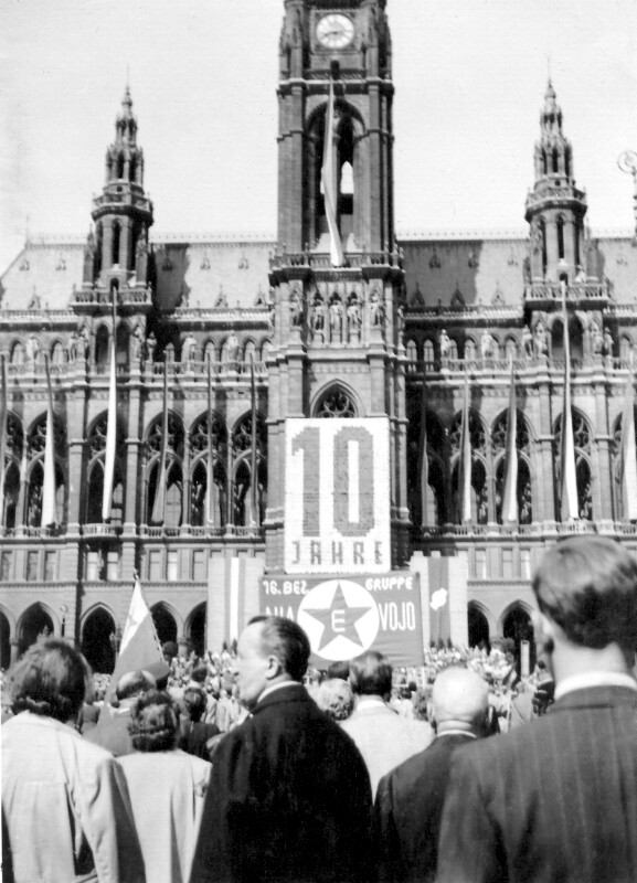 1.-Mai-Aufmarsch, Wien 1955