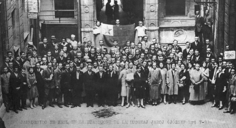 Jahreshauptversammlung des Ungarischen Sozialistischen Esperanto-Vereins, Budapest um 1930