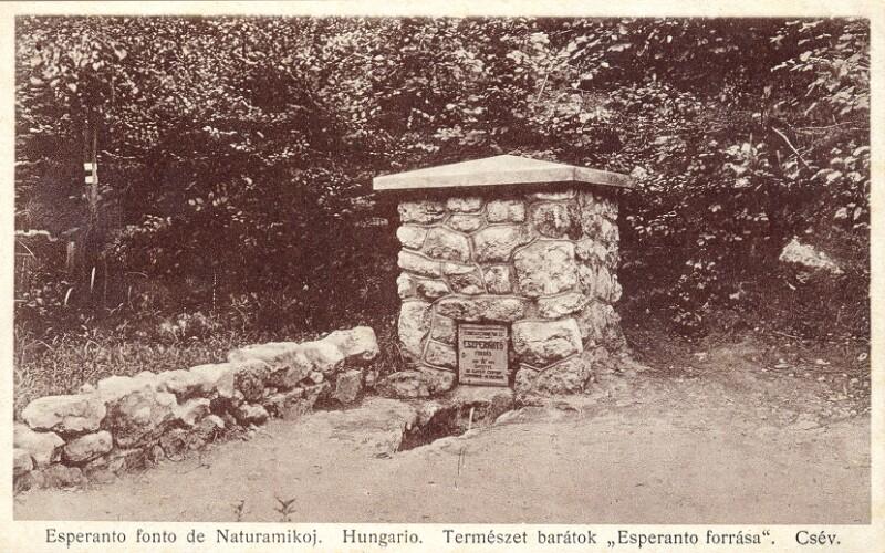 Ansichtskarte: Esperanto-fonto de Naturamikoj, Csév