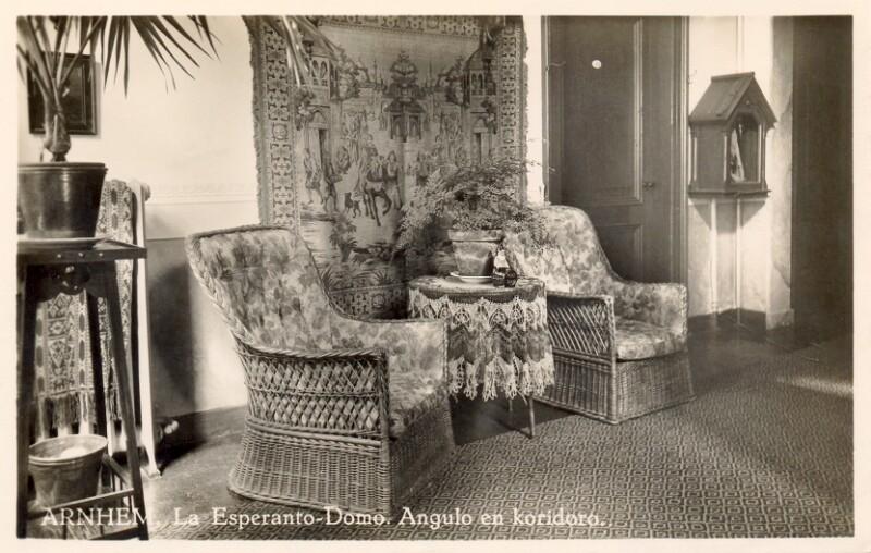 Ansichtskarte: Arnhem, la Esperanto-domo, angulo en koridoro
