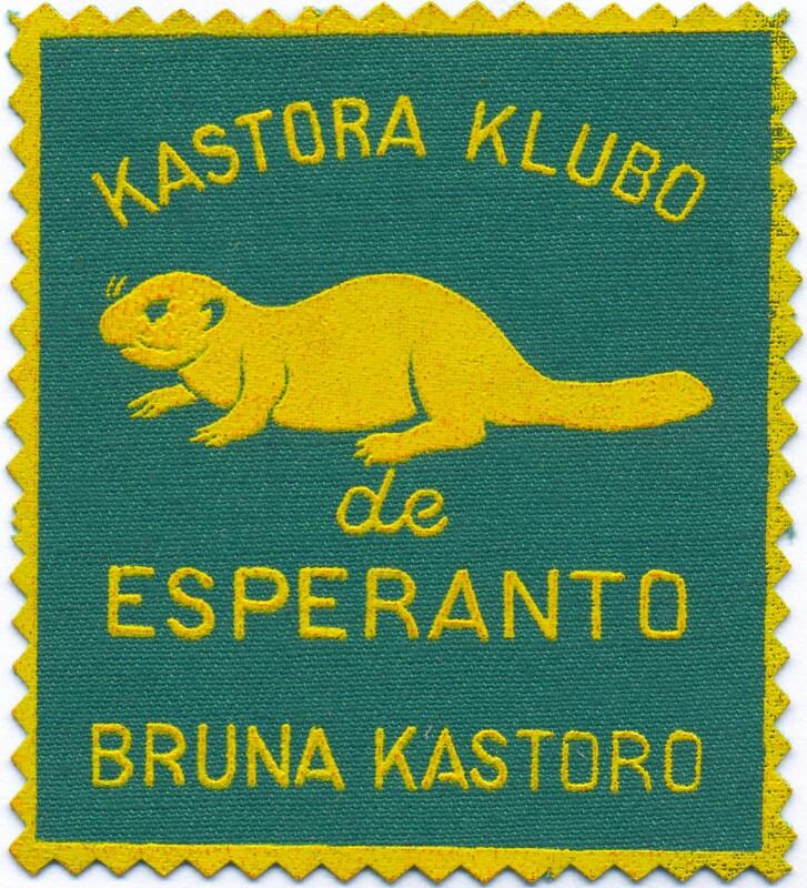 Abzeichen: Kastora Klubo de Esperanto