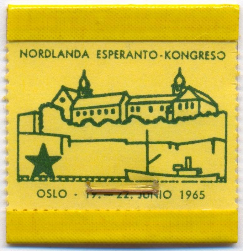 Abzeichen: Nordlanda Esperanto-Kongreso, Oslo 1965