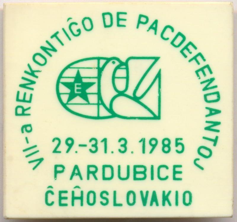 Abzeichen: VII-a Renkontiĝo de Pacdefendantoj, Pardubice 1985