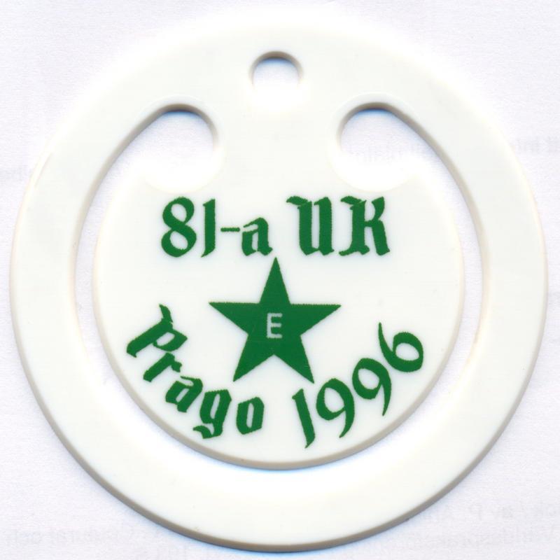 Abzeichen: 81-a Universala Kongreso de Esperanto, Prago 1996
