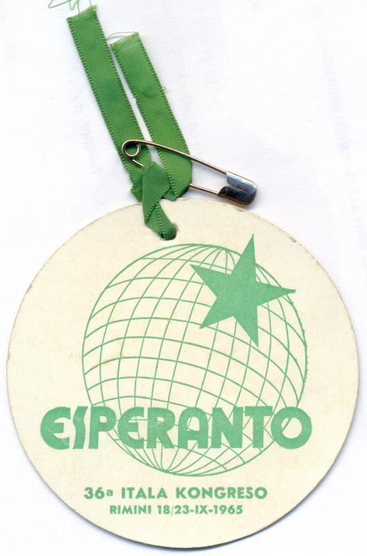 Abzeichen: 36a Itala Kongreso, Rimini 1965
