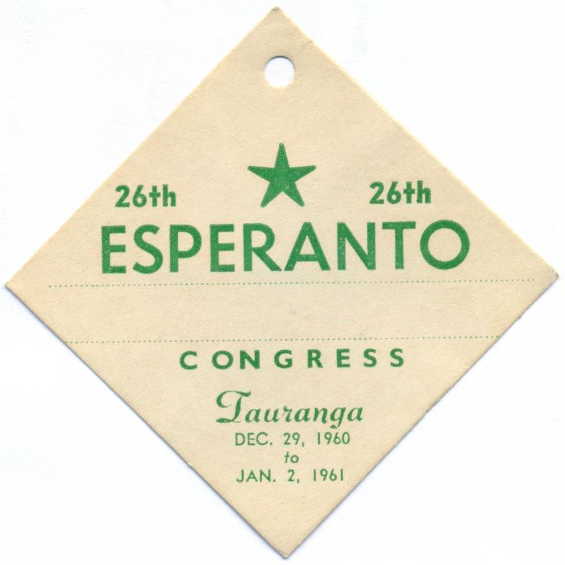 Abzeichen: 26th Esperanto Congress, Tauranga 1960/61