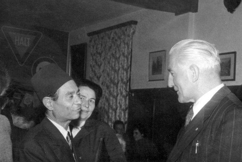 Tadros Megalli und Konrad Deubler im Gespräch, 1956