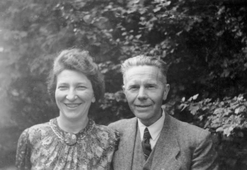 Jelly Koopmans-Schotanus mit Ehemann Wim Koopmans, Utrecht um 1960