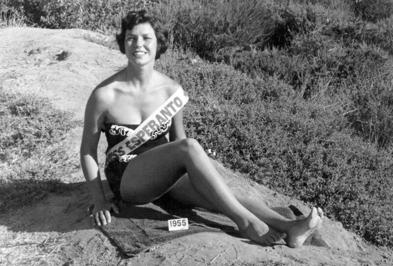 Bonnie Helmuth, Miss Esperanto 1955, San Diego CA