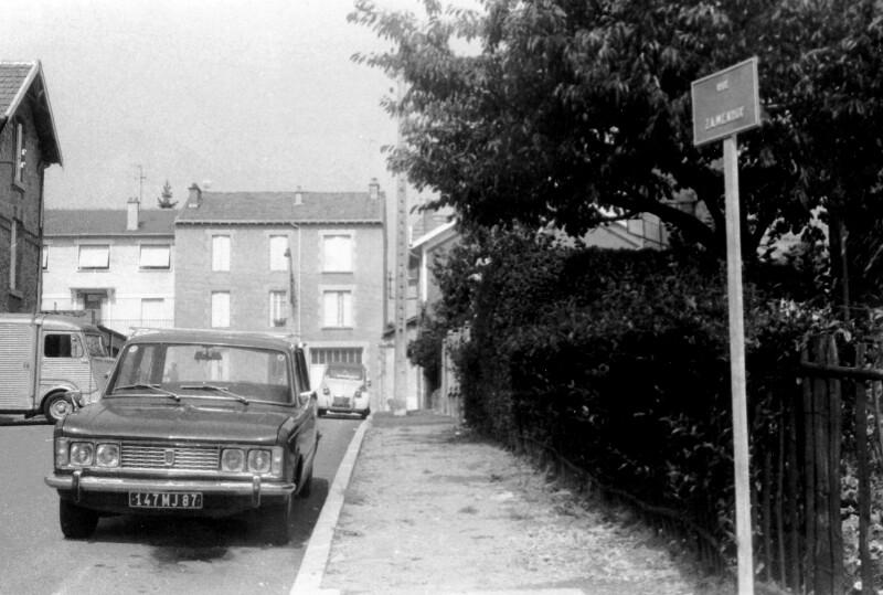 Rue Zamenhof, Limoges um 1975