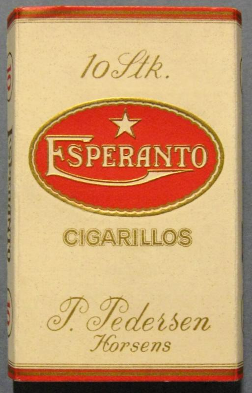 Zigarrilloschachtel: 10 Stk. Esperanto Cigarillos, Horsens