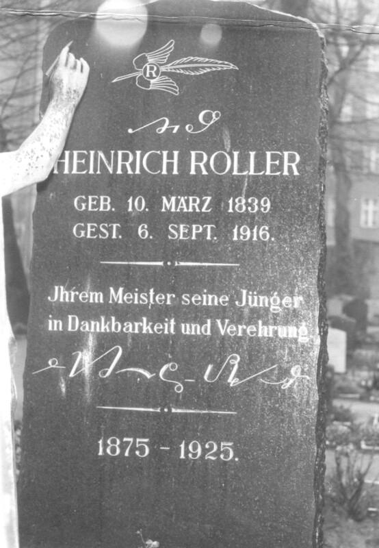 Grabstein Heinrich Roller, Berlin nach 1925
