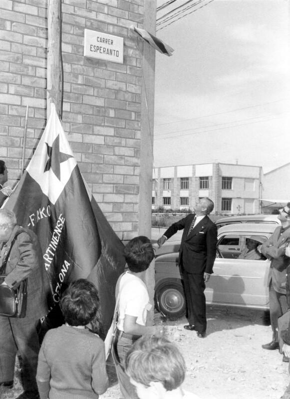 Einweihung der Carrer Esperanto, Cervera 1974