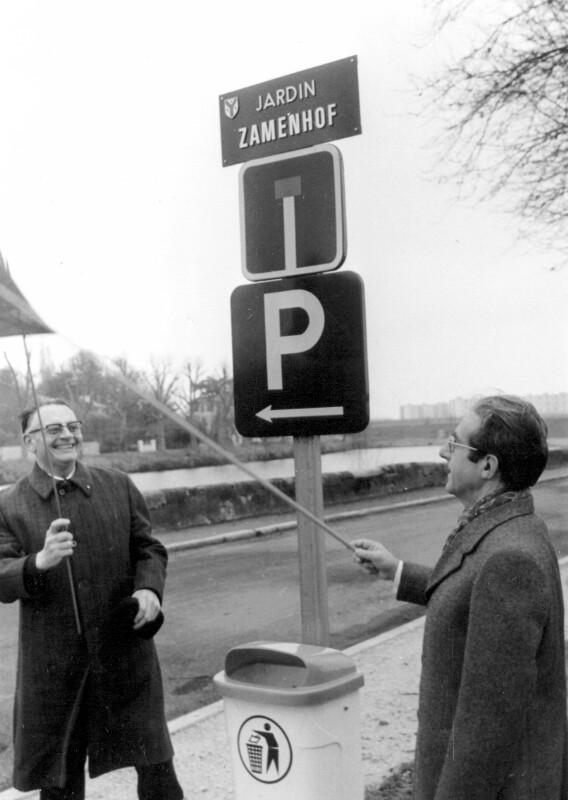 """Einweihung des """"Jardin Zamenhof"""", Saint-Avertin 1978"""