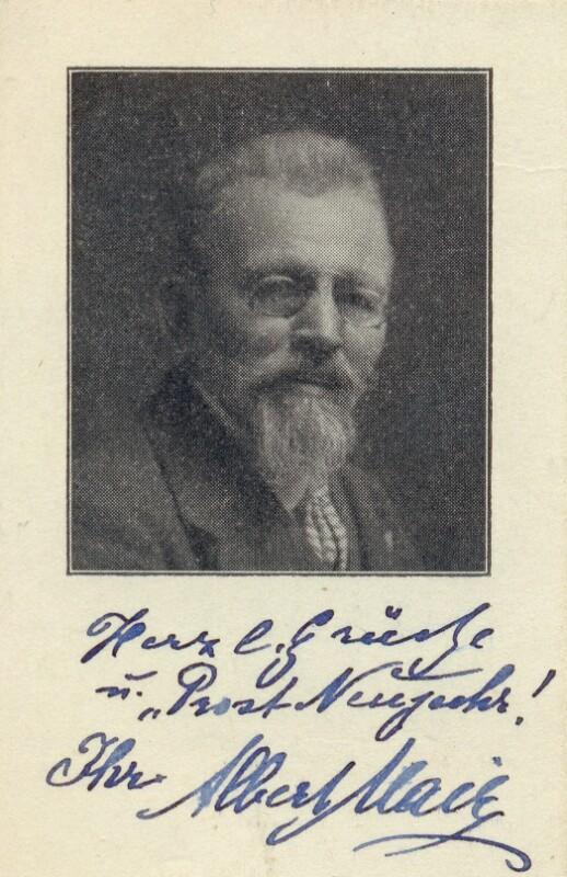 Albert Mair, um 1925
