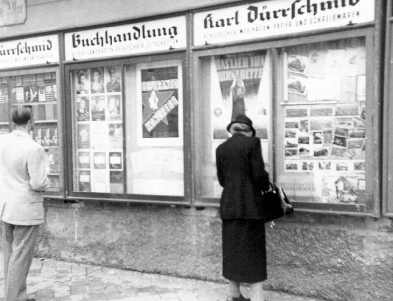 Buchhandlung Karl Dürrschmid, Klagenfurt um 1930
