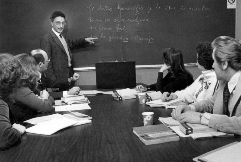 Esperanto-Unterricht an der Southern Illinois University, Edwardsville 1980