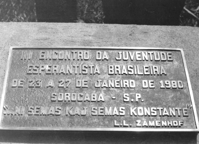 3. Treffen der Brasilianischen Esperanto-Jugend, Sorocaba 1980