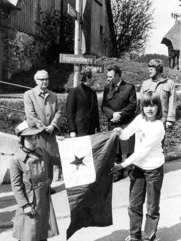 Esperantisten am Esperanto-Weg, Unterkirnach 1981