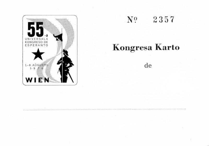 Kongresa Karto: 55-a Universala Kongreso de Esperanto, Wien 1970
