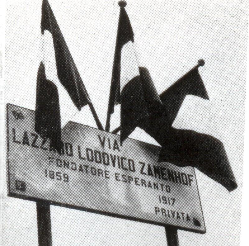"""Einweihung der """"Via Lazzaro Lodovico Zamenhof"""", Varese 1960"""
