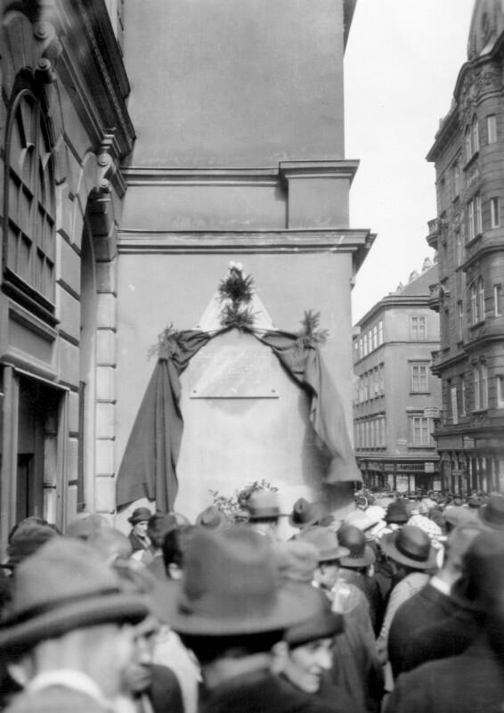 Enthüllung einer Esperanto-Gedenktafel, Wien 1924
