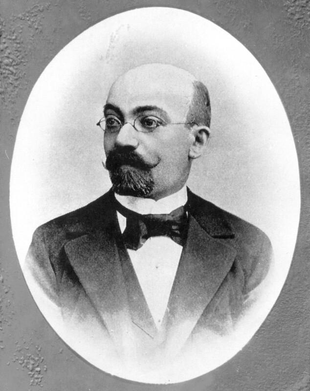 Ludwik L. Zamenhof, um 1885