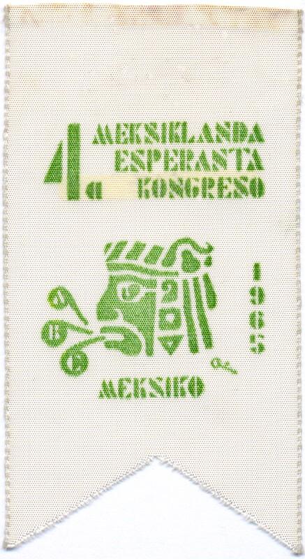 Abzeichen: 4a Meksiklanda Esperanto Kongreso, Meksiko 1965