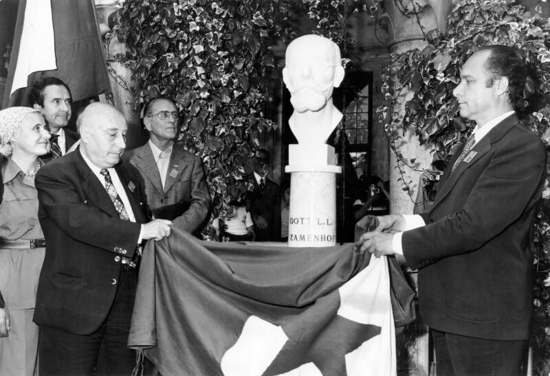 Enthüllung der Zamenhof-Büste im Castello Malaspina, Massa 1976