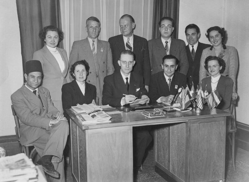 Das Organisatoren-Team der Messe Lyon, 1952