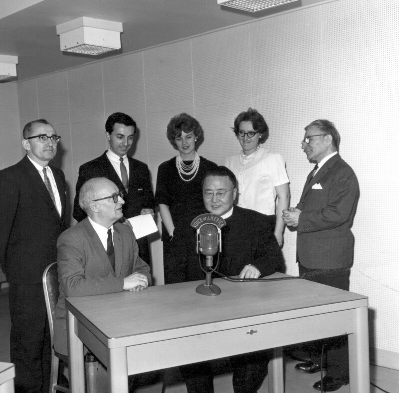"""Esperanto-Programm von """"Voice of America"""", Washington 1961"""