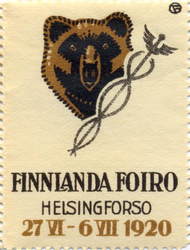 Verschlussmarke: Finnlanda Foiro, Helsingforso 1920