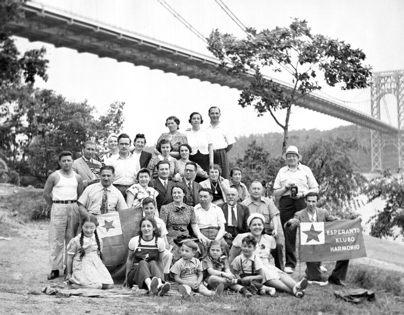 "Picknick des Esperanto-Vereins ""Harmonio"", New York um 1950"