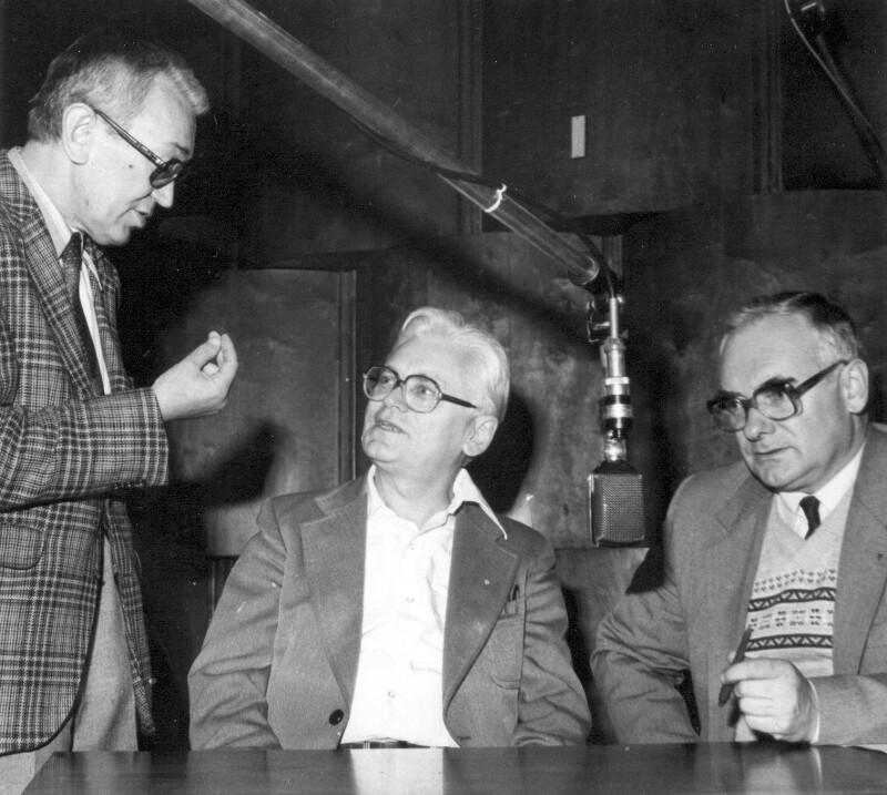 Esperanto-Redaktion von Radio Polonia, Warschau um 1985