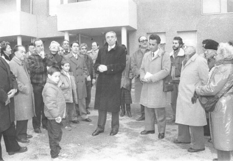 "Einweihung des ""Square Espéranto"", Saint-Fons 1987"